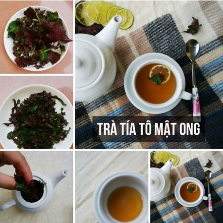 http://matongsonla.vn - cách làm trà mật ong tía tô trị cảm lạnh