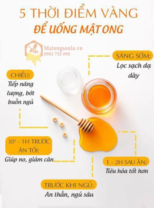 Những thời điểm tốt nhất để uống mật ong