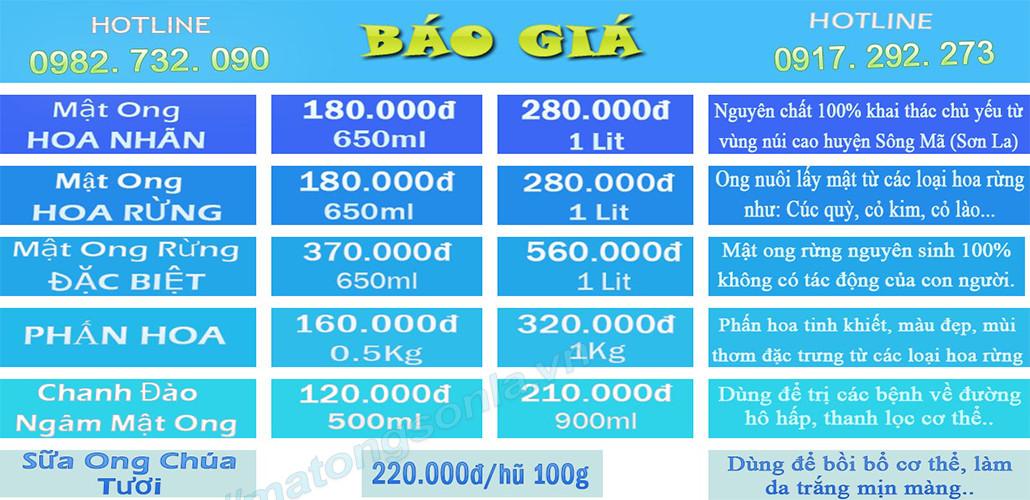 Mật ong rừng nguyên chất bán tại Hà Nội - Giá cả rẻ nhất - http://matongsonla.vn