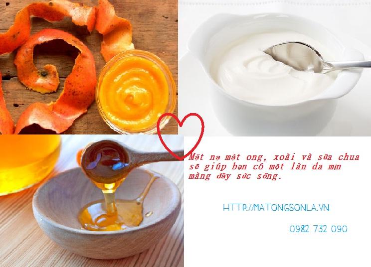 http://matongsonla.vn - Mật ong và xoài sẽ làm mịn da
