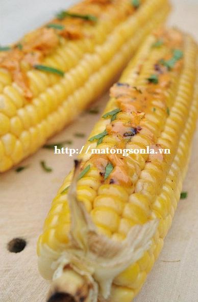 http://matongsonla.vn -  Cách làm ngô nướng mật ong